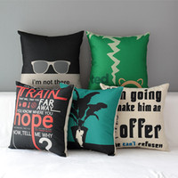 adult posters - 18 quot Square Modern Poster Cover Cotton Linen Cushion Cover Sofa Decorative Throw Pillow Chair Car Home Decor Pillow Case almofadas CN018