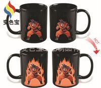 ceramic balls - Dragon Balls Z styles Color Changing Coffee Mug Heat sensitive Reactive Ceramic Cups Mugs Saiyan Sun Wukong Vegeta with retail boxes