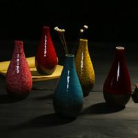 Vase en porcelaine chinois vases en céramique fambe décoratif minimaliste classique vase de porcelaine oriental decoraton noël Wholesales vase