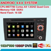 audi a4 - Quad Core Android System Radio Car DVD Player GPS Navi RDS Bluetooth Phonebook AUX USB SD Steering Wheel Control For Audi A4