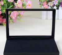 Wholesale Black Jewelry Rings Display Show Case Organizer Tray Box