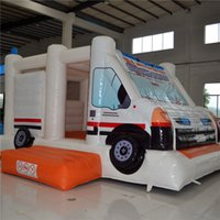 amusement equipment - AOQI amusement park equipment truck style inflatable jumping bouncer for kids for sale made in China