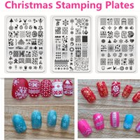 Wholesale Design Christmas Pattern Nail Stamping Plates Template D Nail Art Image Stamper Stainless Steel Xmas Stencils For Nails JH245