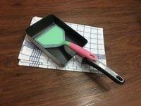 Wholesale 2pcs nonstick cookware Tamagoyaki pan rectangular omelete pan pancake pan with silicone spatula