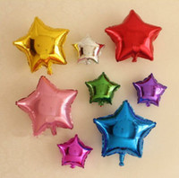 Wholesale 12PCS inch Five point star Balloon point star foil party balloon Color mixture Gold Silver Blue Purple Red Green color birthday party