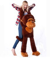 monkey - Details about CM Cotton Giant Big Cute Monkey Plush Stuffed Huge Soft Doll Toy Brown