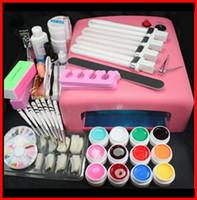 Wholesale Pro W UV GEL Lamp Color UV Gel Practice Fingers Cutter Nail Art DIY Tool Kits Sets Set Manicure Set
