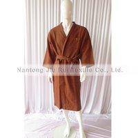 Wholesale Soft Thick Absorbent Cotton Long Sleeve Lattice Bathrobes Colors For Choice