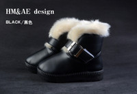 Wholesale New Fashion Children s Boots Boys Girls Winter Shoes Thick Warm Short Boot Kids Snow Boots kids boots girls leather
