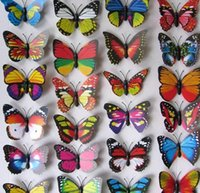 Wholesale 1000pcs cm Vivid D duplex printing Multi Color Butterfly Fridge refrigerator Magnet for Home Decor wedding party gift Crafts