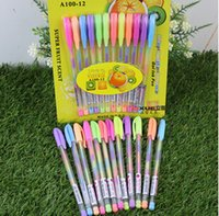 Wholesale 2015 Colors in pen Changing beautiful girls boys Stationery Pilot Pen Crystallise Gel Ink Color Highlighters