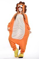 Lion mascotte Anime Pyjamas Hoodie animaux Costume unisexe nuit