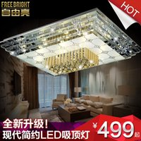 Cheap Freedom led ceiling light chandelier modern minimalist living room lamp bedroom lamp lighting lamps square patch 81