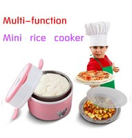 Wholesale Hot sale mini rice cooker electric lunchboxes double layer stainless steel interior cooking tool heating box I