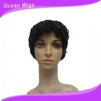 Wholesale Brazilian hair mix length mix texture short wig great quality A human hair wig B color no tangle Quercy Hair