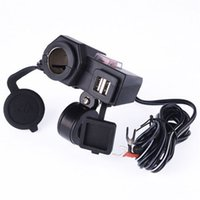 Wholesale New Dual USB Power Port Motorcycle Waterproof Lighter Charger Bracket For Honda hot selling