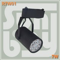 Wholesale LED track light W high lumen high quality two wires rail base commercial lighting spotlight