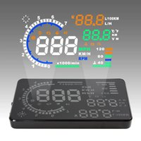 Wholesale 5 quot Large Screen Car HUD Head Up Display with OBD2 Interface Plug Play A8 Car HUD Display CAL_400