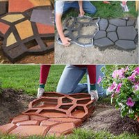 Wholesale 1 Piece Path Maker Mold Crazy Paving Maker Mulch film PP Resin x43cm Supplies For Garden Tools Can Buildings Ways
