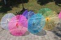Parasols handmade craft - R H Bridal Wedding Parasols Chinese Straight Transparent Soild Sun Umbrellas Handmade Inches Ladies Craft Sunshade