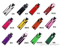 Wholesale Multicolor High quality Clip on Adjustable Braces Candy Suspender Unisex Pants Y back elastic Suspender Braces cm P Y25