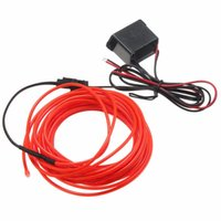 Wholesale Lowest Price Led Flexible EL Wire Neon Glow Light M With V Controller Car Party Wedding Decoration