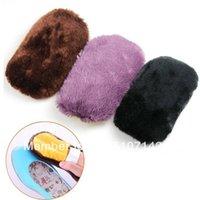 Wholesale 2pcs Hot Imitation Wool Shoes Clean Cloth Shoe Brush Polishing Gloves Tool Popular fBNxV