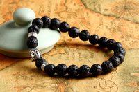 buddha beads - 2016 New Design Men s Beaded Energy Lava Stone Antique Silver and Buddha bracelet Best price Best Selling Gift Jewelry