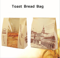 Wholesale Baking Packaging bread toast window bags kraft paper bags to bags g toast bread cake Packaged for sale piece