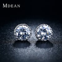 diamond earrings - Christmas gift silver jewelry fashion stud earring CZ diamond earrings vintage brincos retro accessories earrings for woman MSE001