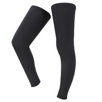Wholesale New Outdoor Sports Leg Sleeves Black Legwarmers Breathable Cycling Bicycle Leg Sleeves for Men Women