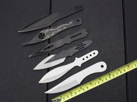 bbq knives - 201506 fly BBQ knife tactical camping knife knives with nylon different styles hunting knife with retail box B183L