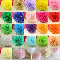 blue tissue paper - 50pcs cm Tissue Paper Pom Poms Artificial Paper Ball Birthday Wedding Party Decoration Lantern Flower DIY Ball Flowers color