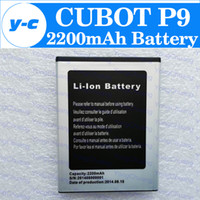 Cheap Wholesale-CUBOT P9 battery 100% New Original 2200mAh Li-ion Battery For CUBOT P9 Smartphone In Stock Free Shipping +Tracking Number