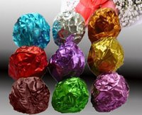 Wholesale 100pcs Square Candy Sweets Chocolate lolly Foil Wrappers Confectionary