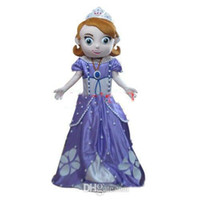 Cheap Hot Fashion Free Shipping Deluxe Sofia Mascot Costume, Sofia Mascot Costume Real Pictures! Fans do a gift for free
