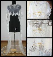 applique glass - Hot Sale Muslim Luxurious Bridal Wraps Dubai Beading Shi Hualuo Crystal Dimond Rhainstone Arbic Lace Rdge Glass Abay Cathedral Train Veil