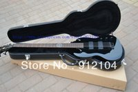 Cheap New Arrival black SG BASS Guitar Best OEM bass Musical instruments +hardcase+free shipping to United States