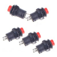 Wholesale 5pcs Car Boat Dash Locking Latching OFF ON Push Button Switch Black mm Red
