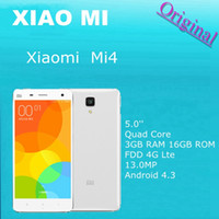Wholesale 100 Original Xiaomi Mi4 Mobile Phone Quad Core GB RAM GB ROM FDD G Lte MP Android Smartphone