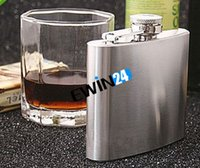 Wholesale Fine Stainless Steel Hip Flasks Flagon Kettle Wine Srinks OZ Portable For Men