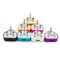 Wholesale General V A USB Mobile phone Charger Adapter for Phone Samsung and Others Assorted Colors UK