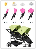 baby stroller for double twins - Baby Prams Twins Stroller On Sale With Many Accessories Easy Mommy Lift Double Pushchair For Twin Colors In Stock Fast Delivery