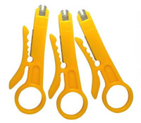 Wholesale Cable Wire Punch Down Cutter Stripper network UTP STP data cables wires terminates wire stripping knife tool Wire cable Stripper Cutter