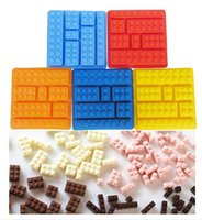 cake icing - Silicon Cake Moulds Building Bricks Lego Robot Silicone Chocolate Mold Ice Cube Tray Free DHL Fedex