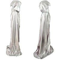 Wholesale Sliver Gold Cosplay hooded cape Carnival halloween costumes Fancy dress Ball maid party Children Death Wizard Cloak Size M L