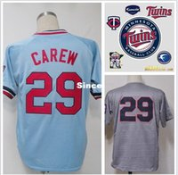authentic twins jersey - 30 Teams Rod Carew jersey Minnesota Twins jersey Embroidery logos authentic Stitched Baseball Jersey size XXXL