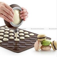 Wholesale Macaron Baking Mat Silicone Tray Cake Mould Pastry Sheet Muffin Tray Reusable Macaroon Silicone Baking Pastry Sheet Mat Mold Tray LJJE135