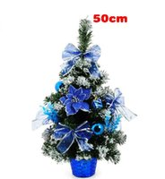 artificial potted christmas trees - The new PVC potted artificial christmas tree Mini pink red blue cm christmas tree decorations