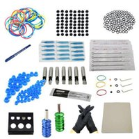 Wholesale Complete Starter Tattoo kit machines guns inks power supply Beginner Set Tattoos Body Art Tattoo Guns Kits v v Free Ship DHL